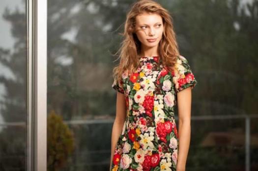 Flores en vestido